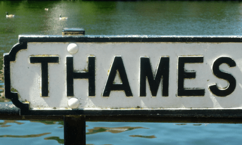 Thames River sign
